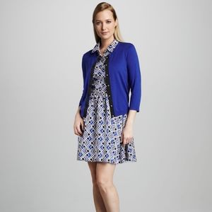 Kate Spade Cobalt Blue Jeremy Cardigan with Bow
